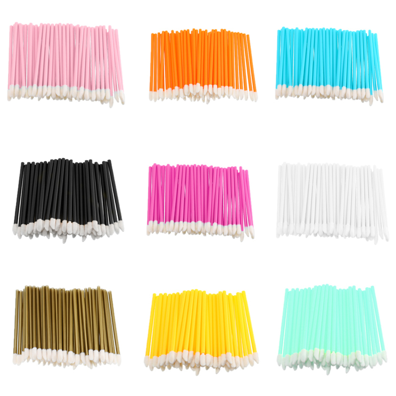 50pcs/lot Soft Disposable Tattoo Cotton Swab Makeup Lip Brushes Microblading Micro Brushes Applicator Tattoo Accessories