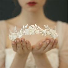 エレガントなヨーロッパウェディング花嫁ため手作りブライダルティアラウェディングジュエリーアクセサリーパーティーグレースための花嫁