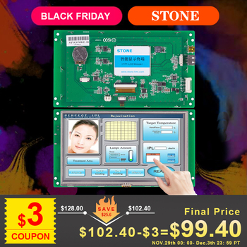 7 Inch HMI TFT LCD Module Embedded Touch Display Support Interface RS232 RS485 TTL 4 3 inch hmi tft lcd display with serial interface rs232 rs485 ttl for equipment use