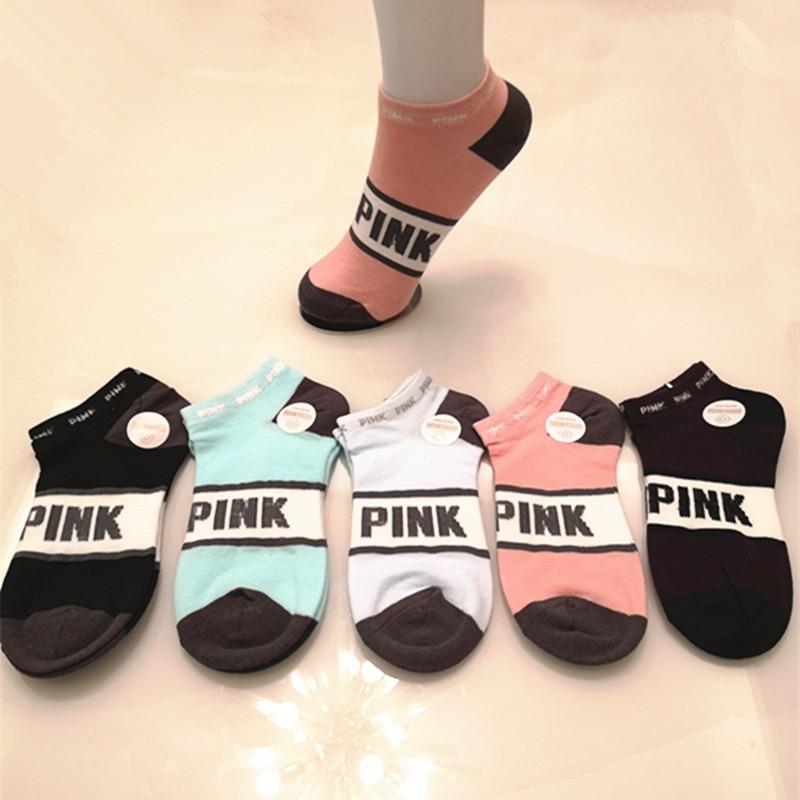 5 Pair/lot Women Sock Harajuku Letter Vintage Skarpetki Damskie Calcetines Streetwear Funny Socks Calcetines Mujer Meias Sokken
