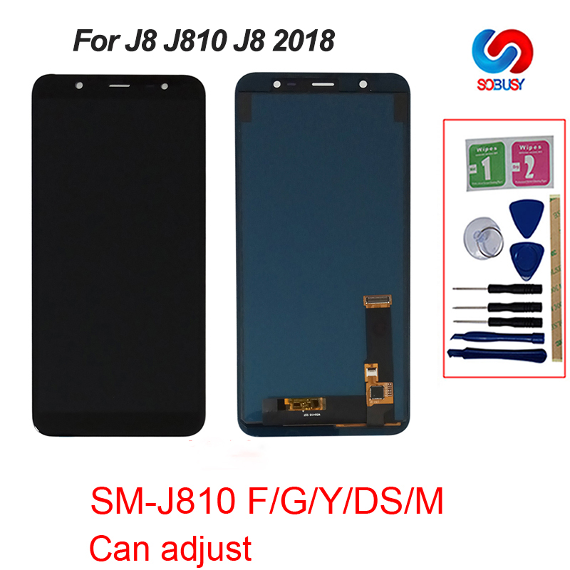 AAA Quality For <font><b>Samsung</b></font> Galaxy <font><b>J8</b></font> <font><b>2018</b></font> J800 J800FN J810 J810F J810Y <font><b>LCD</b></font> Touch Screen Digitizer Display Replacement Parts image