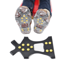 Shoe-Covers Outdoor Non-Slip Snow for Skiing Ice And Wear-Resistant 10-Tooth/crampons
