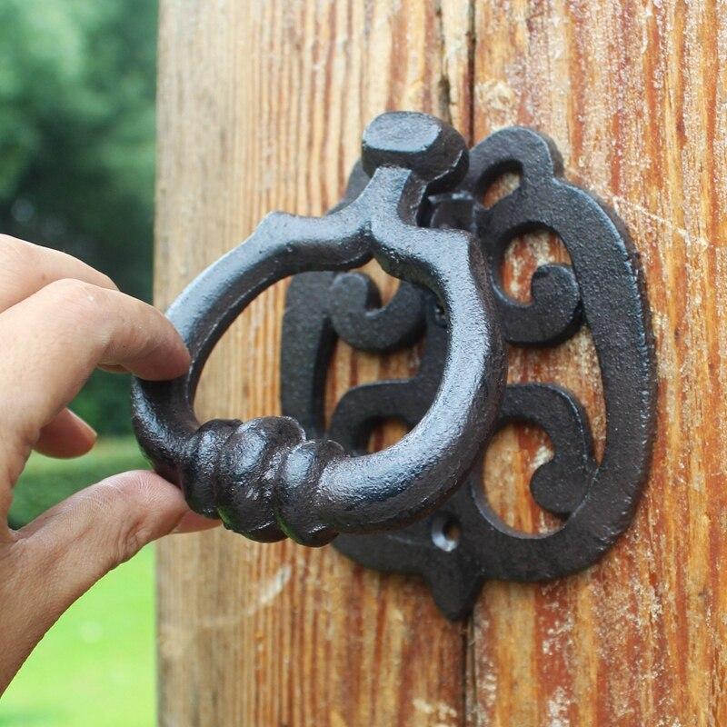 2 pièces Antique porte Knockers en fonte nouveauté heurtoir avec anneau suspendu poignée décor à la maison porte loquet porte porte décoration