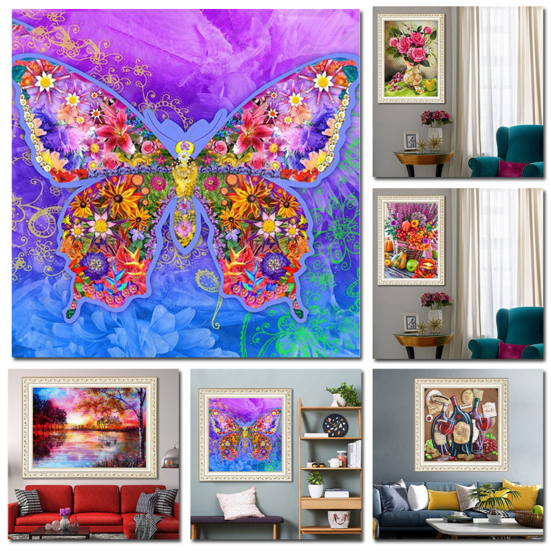 Diamond Painting 5D 30 30cm 30 40cm Size Home Decoration DIY Painting Resin High Quality Room Wall Decor in Diamond Painting Cross Stitch from Home Garden