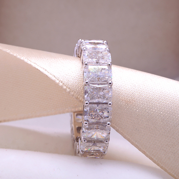Solid 14K  silver ring White Gold Wedding Ring   4