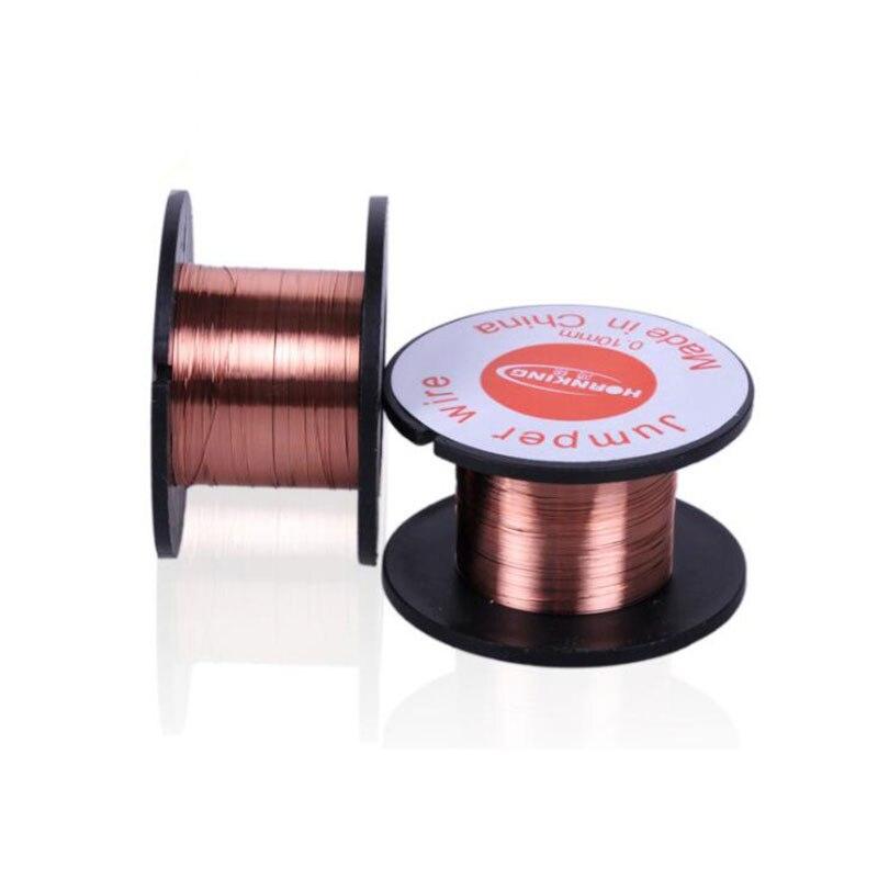 2PCS 0.1mm Copper Solder Soldering PPA Enamelled Reel Wire Jumper Wire