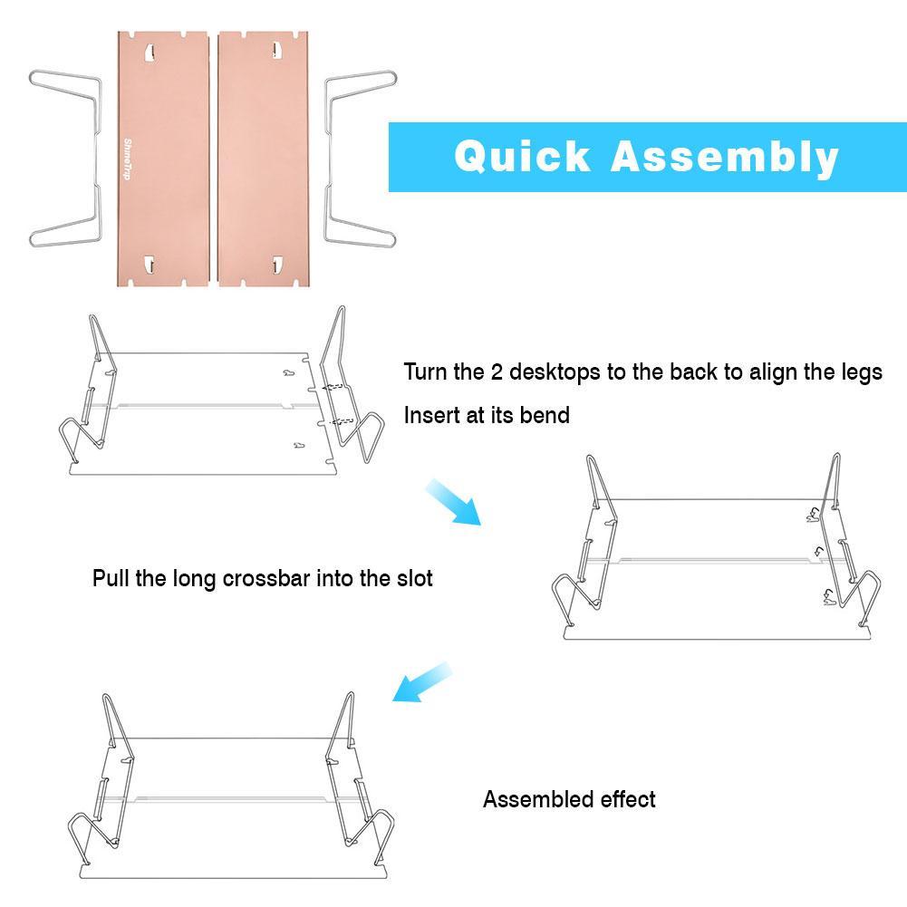 mesa de aluminio leve mini mesa para trekking mochila ao ar livre 05