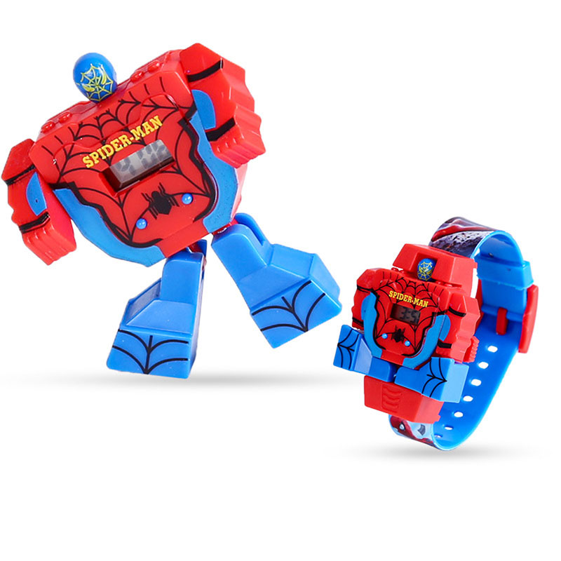 Deformation Children Watch  Toy  Waterproof  Cartoon  Shape-shifting Robot Kids Watches