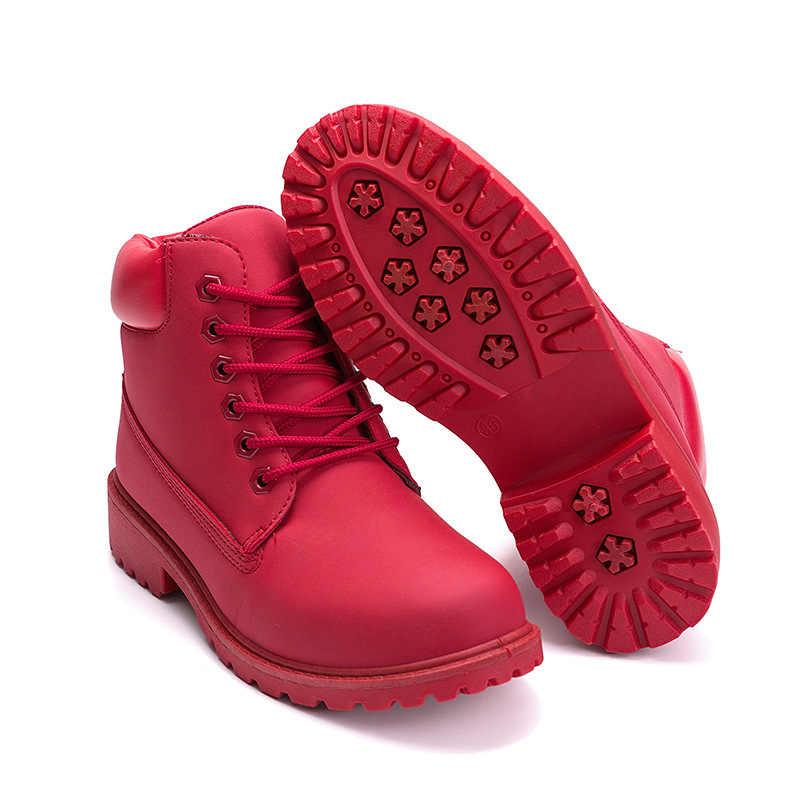 Kış ayak bileği çizmeler kadın ayakkabıları 2019 sıcak peluş kar botas martin çizmeler kadın kare topuklu kış ayakkabı kadın botines mujer
