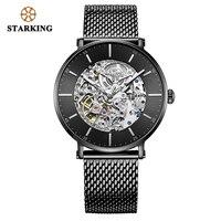 STARKING, мужские часы, брендовые, нержавеющая сталь, мужские часы с автоматическим перемещением, мужские наручные часы, 5ATM, синий циферблат, мех...