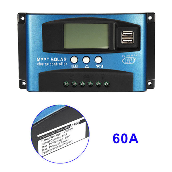 He38c1e3877734a468f2e6c00a13d398at - 40A-100A MPPT Solar Panel Regulator Charge Controller 12V/24V Auto Focus Tracking Device JAN88