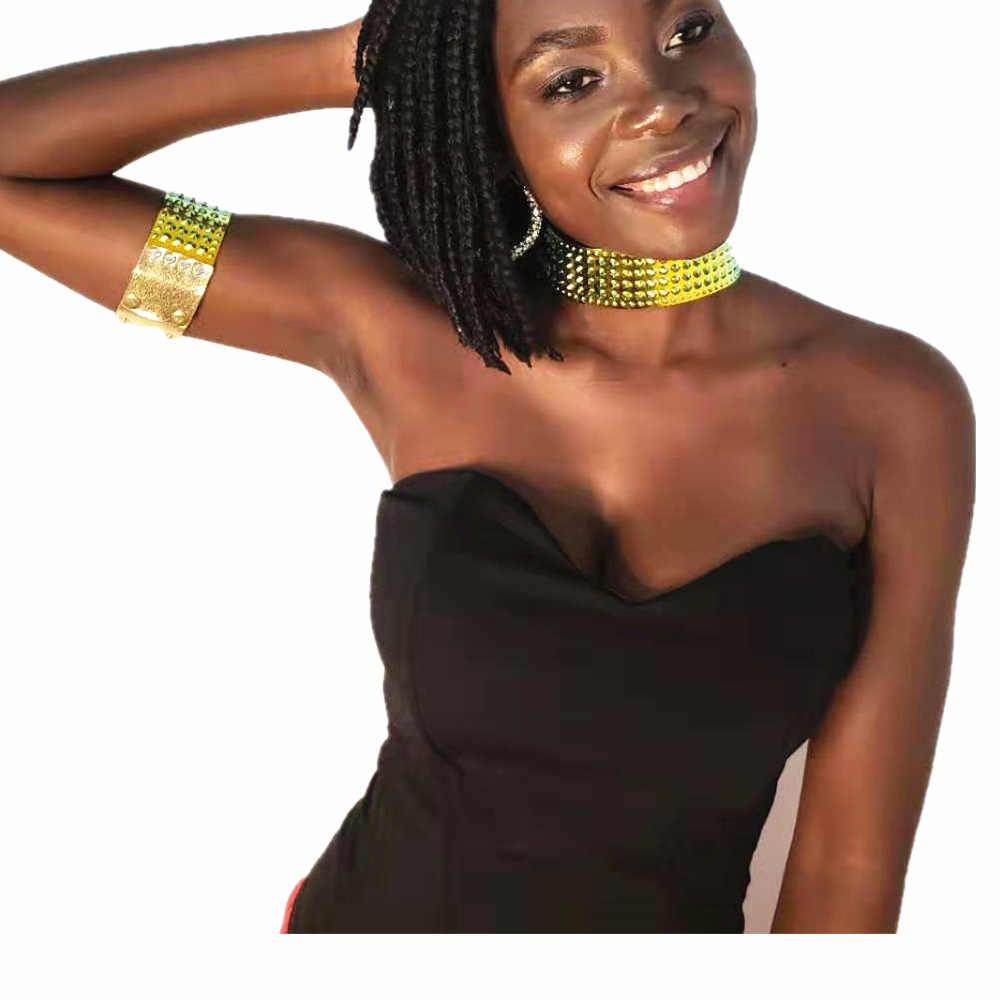 Thời Trang Nữ Vòng Cổ Vòng Tay Trang Sức Bộ Nhiều Màu Bohemian Hình Học Phi Vòng Cổ Choker Trang Phục Bộ Trang Sức