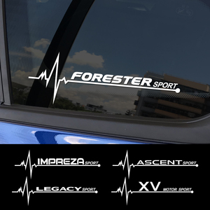 2PCS Car Sticker Side Window Decor Reflective Decal For Subaru Forester Impreza XV Ascent Legacy BRZ Outback WRX Car Accessories(China)