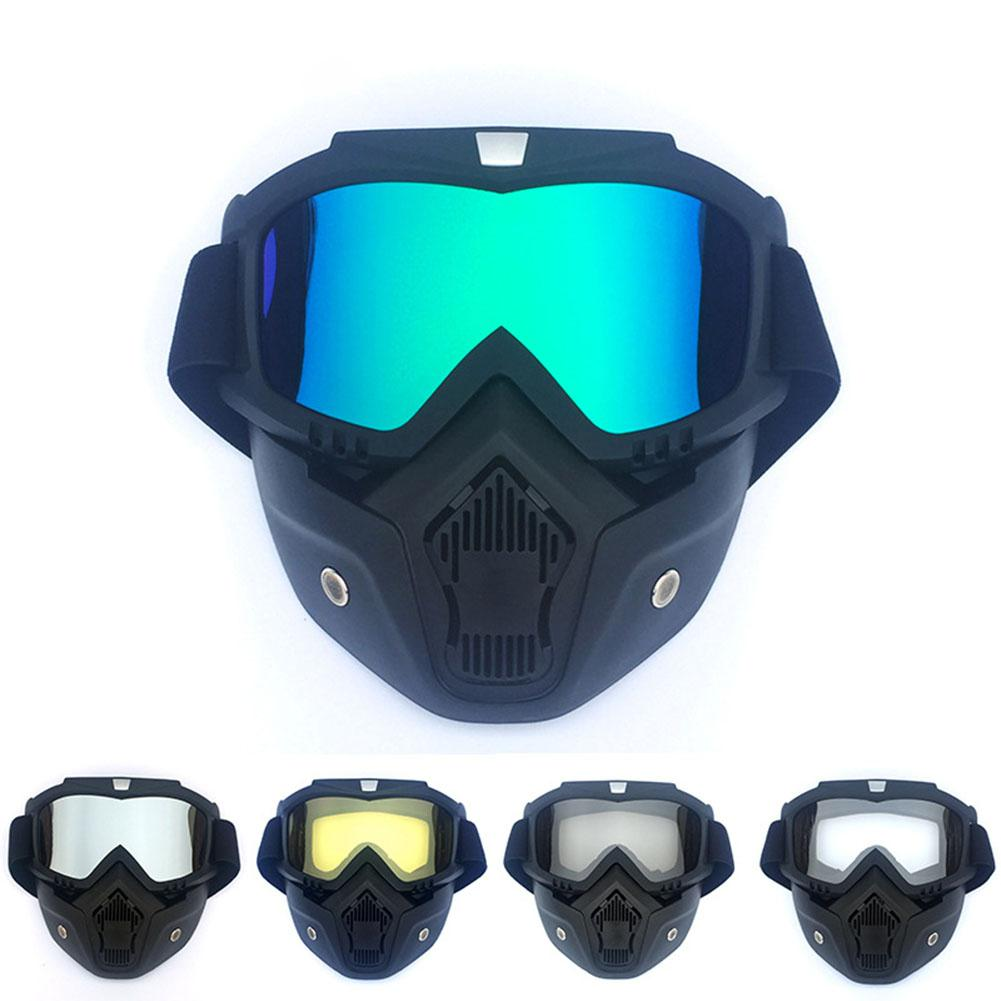Snow Ski Glasses Cycling Goggles Men/Women Retro Windproof Motocross Sunglasses Outdoor Sports Skiing Full Face Mask Glasses