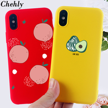 Avocado Phone Case for IPhone 6s 7 8 11 Plus Pro X XS MAX XR SE Cartoon Cases Soft Silicone Fitted TPU Back Covers Accessories i m angry phone case for iphone 6s 7 8 11 plus pro x xs max xr se funny cases soft silicone fitted tpu back accessories covers