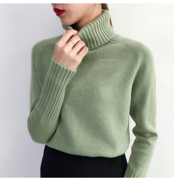 Heyezui Sweater Female 2019 Autumn Winter Cashmere Knitted Women Sweater And Pullover Female Tricot Jersey Jumper Pull Femme