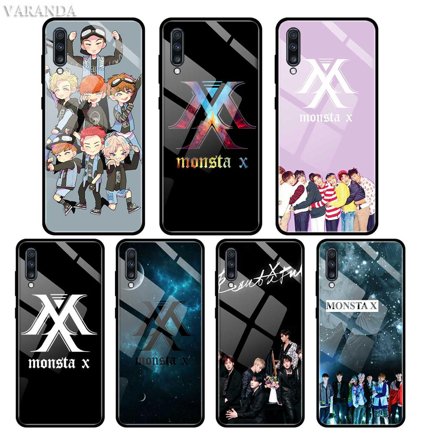 Monsta X <font><b>KPOP</b></font> Boy Group Case For <font><b>Samsung</b></font> A50 A40 A70 A71 A51 A30 A10 A10S A20S M30S J4 <font><b>J6</b></font> <font><b>Plus</b></font> Tempered Glass Phone Cover image