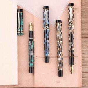 Image 1 - Moonman M600 السيليلويد الشطرنج قلم حبر ألمانيا شميت غرامة بنك الاستثمار القومي 0.5 مللي متر ممتازة مكتب الكتابة هدية صندوق القلم لوازم