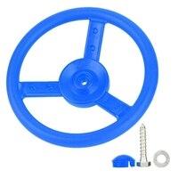 Niebieska plastikowa kierownica dziecięca gra mała kierownica idealna dla dzieci dzieci wspinaczka rama domek na drzewie Play House -