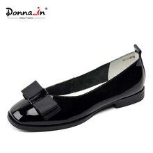 Donna ในบัลเล่ต์Flatsรองเท้าผู้หญิงลื่นบนรองเท้าหนังนิ่มผู้หญิงของBowknot Designerรองเท้าสบายๆฤดูร้อนผู้หญิงรองเท้า