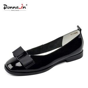 Image 1 - Zapatos de Ballet Donna in, zapatos de boda para mujer, mocasines de cuero para mujer, zapatos de diseñador Bowknot, zapatos casuales de verano para mujer