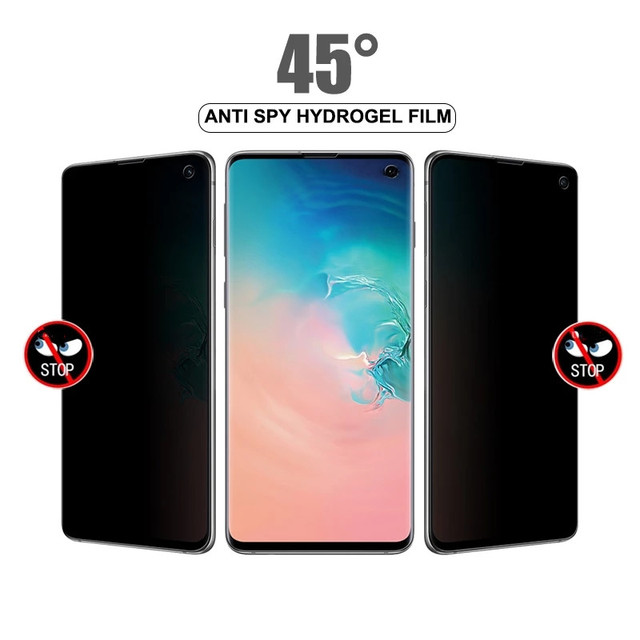 1-2Pcs Anti Spy Privacy Soft Hydrogel Film For Samsung S21 S20 S10 Note10 Plus S20 Note20 Ultra S9 S8 Plus Screen Protector Film 2
