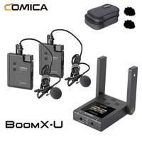 Micrófono inalámbrico boomx-u BoomX U1 U2, Mini receptor de transmisores UHF para cámara de teléfono