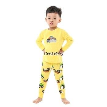 100 Cotton Boys and Girls Long Sleeve Pajamas Sets Children's Sleepwear Kids Christmas Pijamas Infantil Homewear Nightwear - NO8, 2T