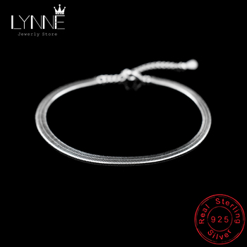 New Arrival Anklet 925 Sterling Ladies Silver Anklets Bracelet Flat Snake Chain For Women Foot Jewelry Barefoot Sandals Anklets