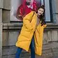 Пуховая куртка с хлопковой подкладкой для женщин размера плюс, Зимняя женская куртка с капюшоном, женские зимние пальто, парки, плотное тепл...