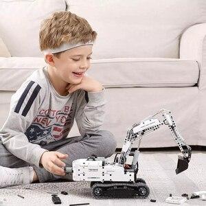 Image 5 - الأصلي شاومي بنة الهندسة حفارة آلات محاكاة وحدة التحكم عالية الدقة كتل سيارة هدية للأطفال