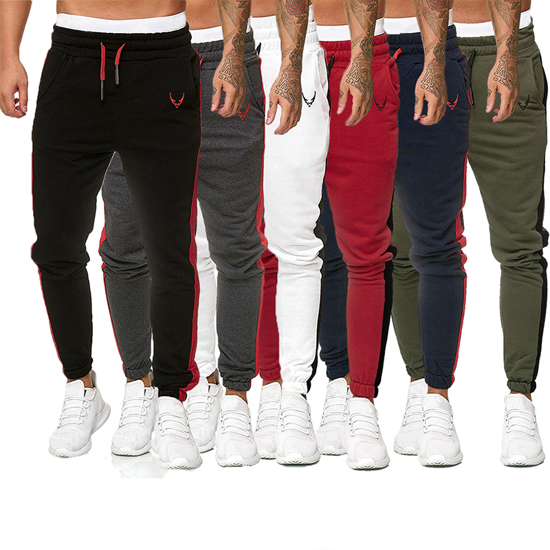 Spring And Autumn Mens Trousers New Large Size Fashion Casual Embroidery Sports Long Pants Products