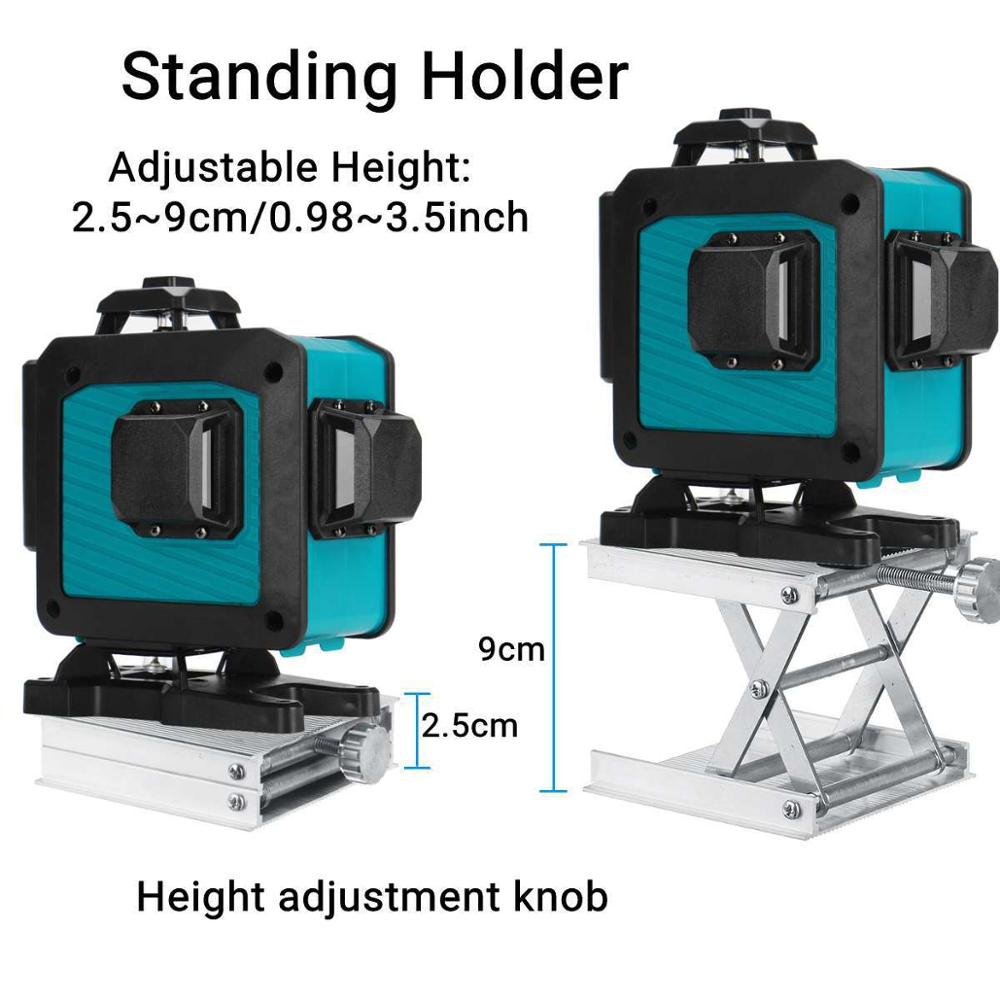 Tools : XEAST 4D 16-line laser level green light wall and floor level high precision automatic wire bonding infrared level