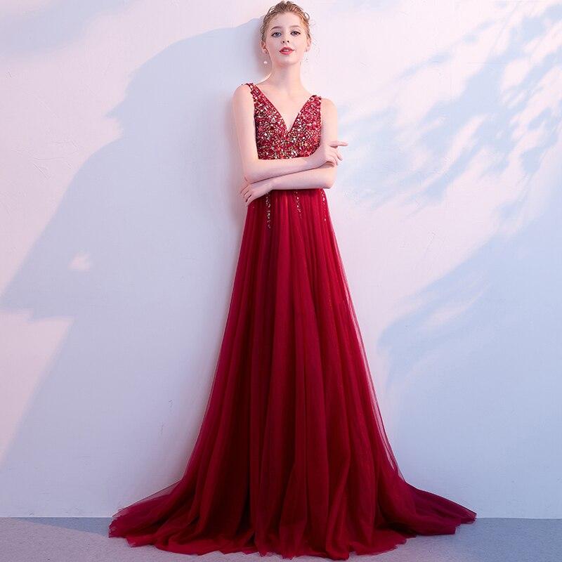 Хит, платья для выпускного вечера, дешевые, трапециевидные, длинные, бордовые, сексуальные, с открытой спиной, вечерние платья, расшитые
