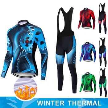 Ropa ciclismo Warm 2020 Winter Thermal Fleece Cycling Clothes Men's Jersey Suit Outdoor Riding Bike MTB Clothing Bib Pants Set bora cycling jersey sportswear super warm winter thermal fleece bicycle clothing mtb coat bike mtb maillot ropa ciclismo k9