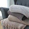 Плед  покрывало для дивана  покрывало с нитью  вязаное покрывало  Европейское однотонное вязаное одеяло с пузырьками  s для кровати  для путе...