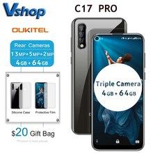 """מקורי OUKITEL C17 פרו 6.35 """"19:9 אנדרואיד 9.0 נייד טלפון MT6763 אוקטה Core 4G RAM 64G ROM טביעת אצבע 4G 3900mAh Smartphone"""