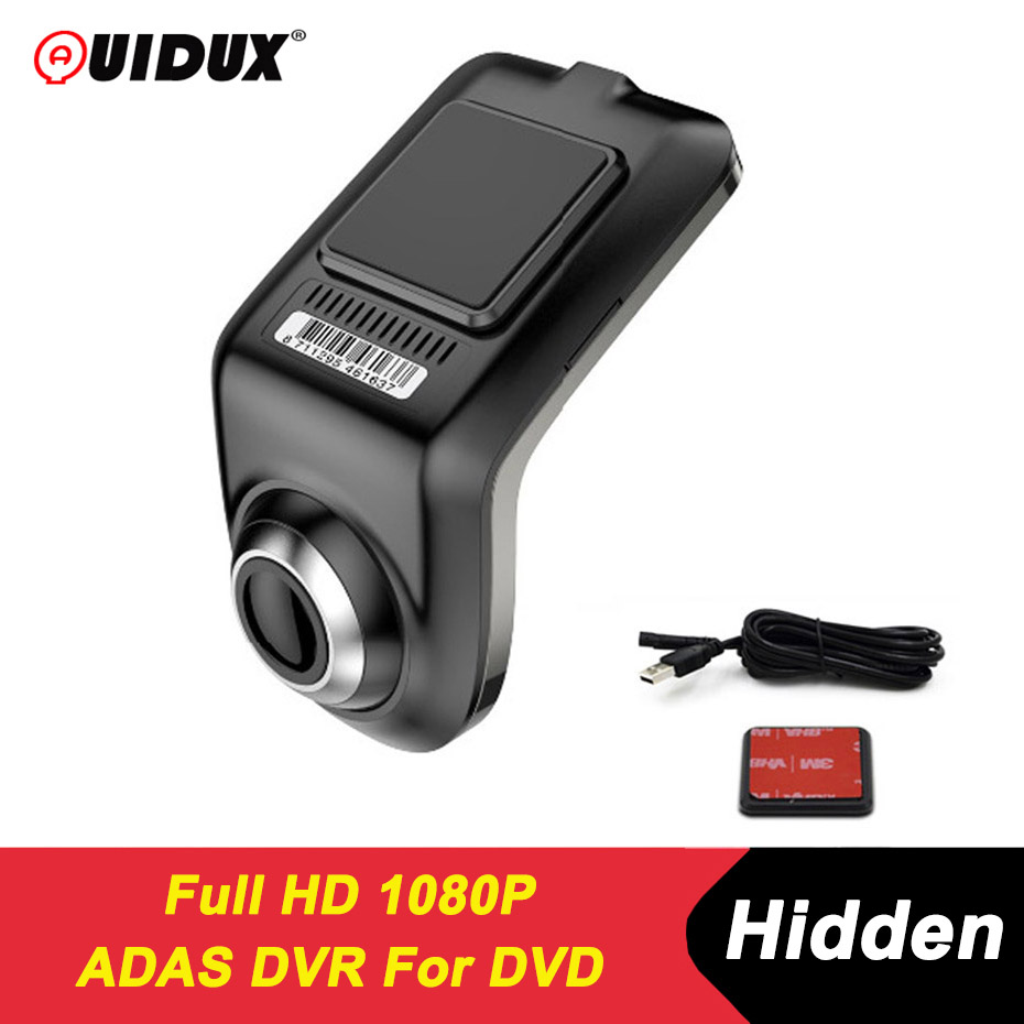 QUIDUX U3 ADAS Mini Car DVR Camera Full HD LDWS Auto Digital Video Recorder Dash Cam for Android Multimedia player
