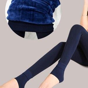 Image 3 - TOIVOTUKSIA 200g kış yeni yüksek elastik Lady tayt sıcak tozluk renkli pantolon sıska kadın kış dikişsiz tayt