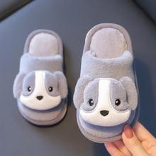 Kids Slippers Plush-Sneakers Cotton Indoor-Shoes Girl Winter Cartoon-Bear Children Cute