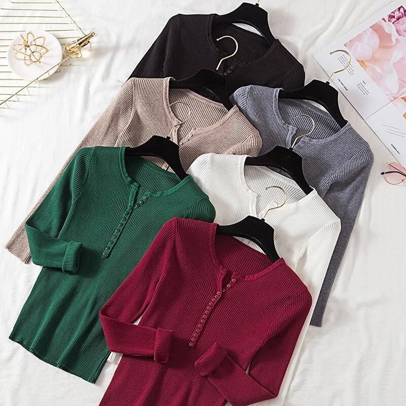 Women's Sweater, Collar V, Knitted Winter Sweater, Women's Knitted Sweater, 2019
