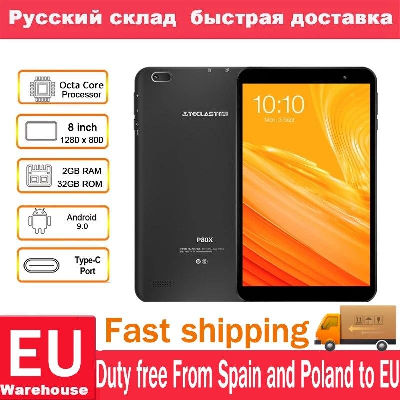 Teclast P80X 4 GTablet Android 9,0 SC9863A IMG GX6250 8 дюймов 1280x800 ips Восьмиядерный 1,6 ГГц 2 Гб ram 16 Гб rom планшет с двойной камерой