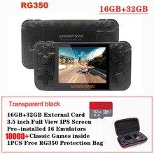 Rg350 레트로 게임 콘솔 3.5 인치 ips 스크린 32 gb 10000 + 게임 ps1 게임 64 비트 opendangux 18 에뮬레이터 핸드 헬드 게임 플레이어