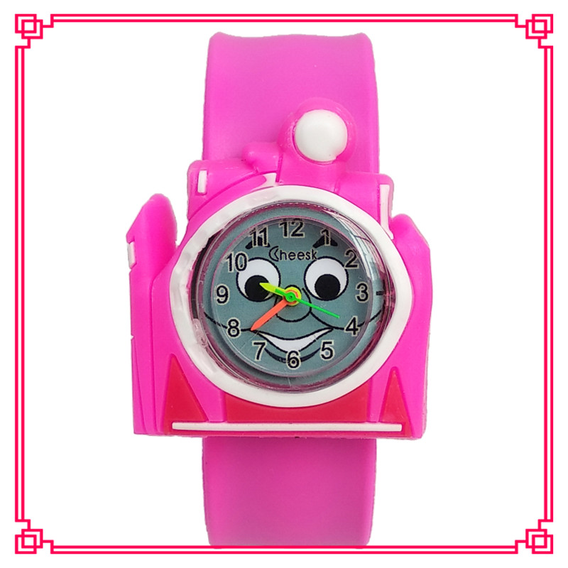 New Cute Smiley Face Cartoon Train Children Quartz Watch Kids Watches  Sports Unisex Wristwatches Student Child Baby Gift Clock