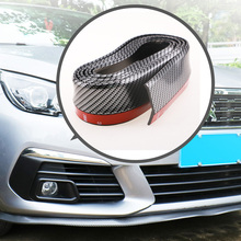 2.5M Car Bumper Lip Stickers Car Front Bumper Lip Rubber Car Bumper Protectors Exterior Mouldings Bumper Lip Strip Accessories car front lip bumper refitting general small enclosure front bumper carbon fiber automotive products front lip adhesive strip
