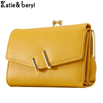 Brand Designer Small Wallets Women High Quality Leather Wallets Female Short Coin Purses Money Credit Card Holders Clutch Bags flying birds short wallets women dollar price leather wallet clutch purse women bags high quality credit card bag lm4243fb