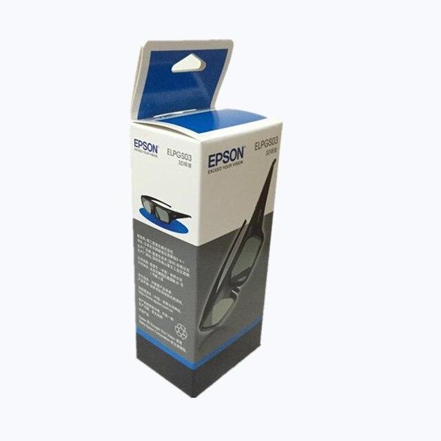 Gafas activas 3D originales para Epson, lentes ELPGS03 para proyector TW5200/9200/TW6200/TW8200