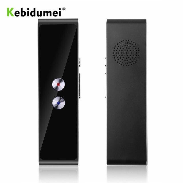 Kebidumei t8 tradutor de voz inteligente portátil versão de atualização para a aprendizagem de viagens reunião de negócios foto tradutor de linguagem
