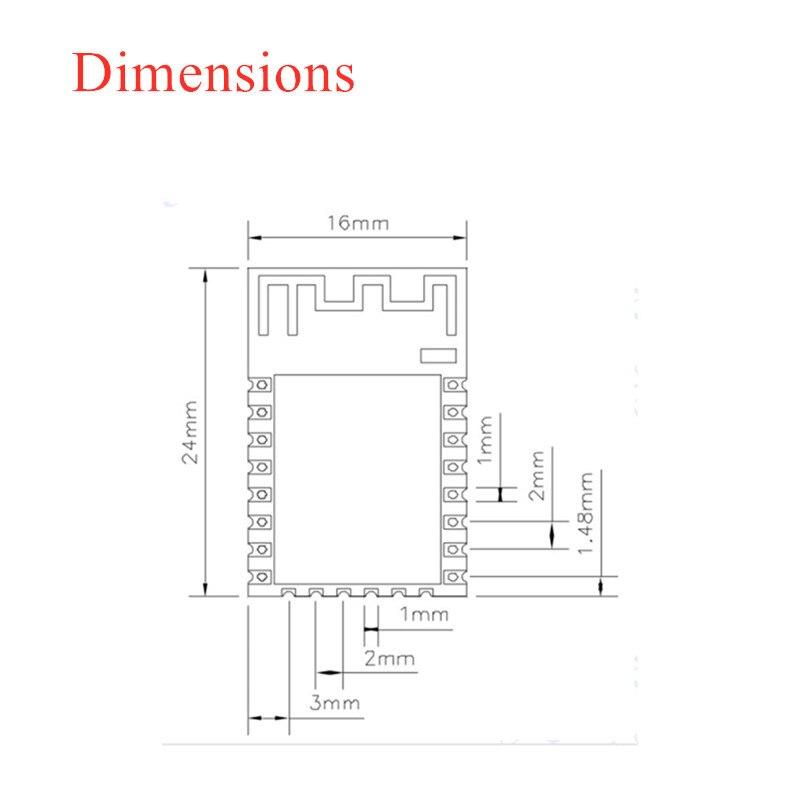 esp-12e Dimensions