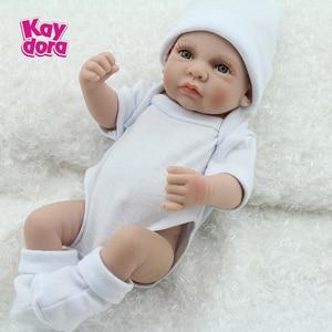 Realista Mini Silicone Bebe Reborn Baby Dolls 25cm Alive Menino Menina Bath Play Toys Kids Bed time Partner Child Surprise Gifts